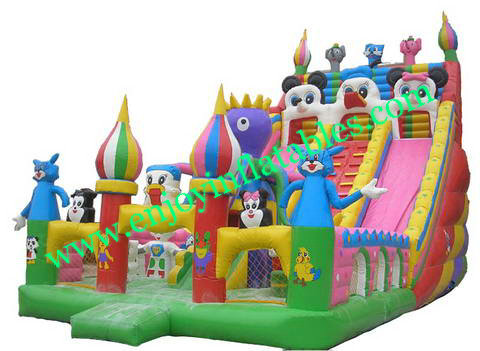 YF-mickey inflatable playground slide-25