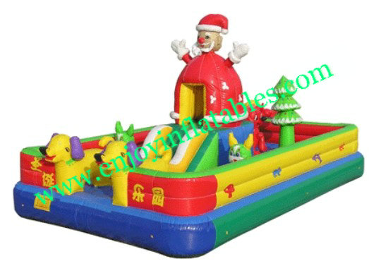 YF-santa claus inflatable fun city-16