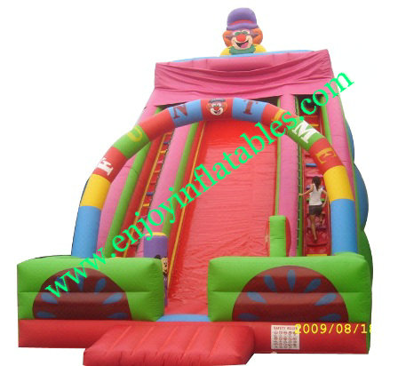 YF-clown inflatable slide-108