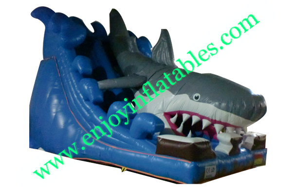 YF-inflatable shark slide-40