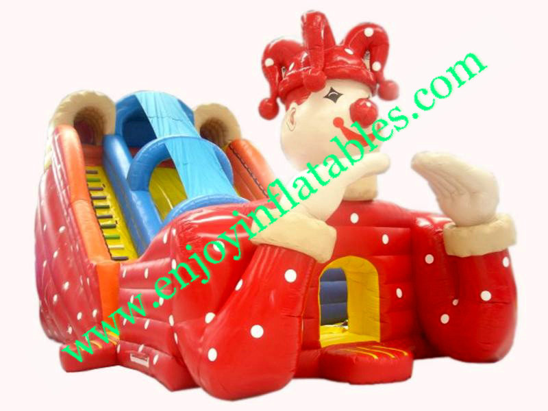 YF-inflatable clown slide-39
