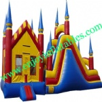 YF-inflatable castle slide combo-116