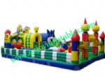 YF-blue cat inflatable amusement park-39