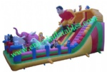 YF-spiderman inflatable playground slide-30