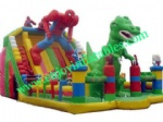 YF-spiderman inflatable playground slide-26