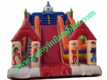 YF-clown inflatable slide-22