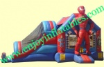 YF-spiderman inflatable bouncer slide combo-48