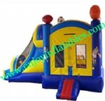 YF-inflatable slide jumper combo bouncer -51